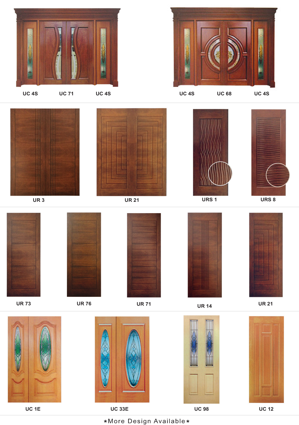 Solid Wooden Door / Solid Kitchen Wooden Door Series